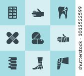 set of 9 pain filled icons such ... | Shutterstock .eps vector #1013522599