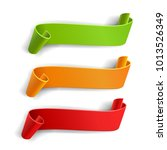 realistic ribbons set  color... | Shutterstock .eps vector #1013526349