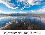 beautiful seashore at low tide... | Shutterstock . vector #1013529130