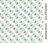watercolor seamless pattern... | Shutterstock . vector #1013532064