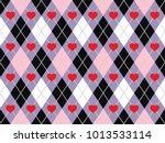 valentine's day argyle seamless ...   Shutterstock .eps vector #1013533114