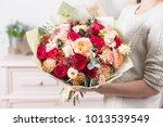 beautiful luxury bouquet of... | Shutterstock . vector #1013539549