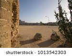 Zahara de los Atunes village and wall in Cadiz province Andalusia Spain Castle ruin