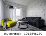 living room with green sack... | Shutterstock . vector #1013546290