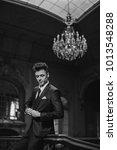 handsome guy wearing expensive... | Shutterstock . vector #1013548288