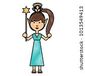 cartoon fairy girl icon | Shutterstock .eps vector #1013549413