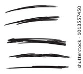 vector set of hand drawn... | Shutterstock .eps vector #1013557450