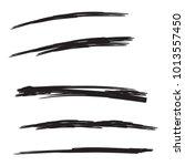 vector set of hand drawn... | Shutterstock .eps vector #1013557450