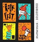 rock  blues music festival... | Shutterstock .eps vector #1013558503
