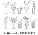 vector hand drawn set of... | Shutterstock .eps vector #1013558869