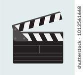 clapboard  clap board  clapping ... | Shutterstock .eps vector #1013561668