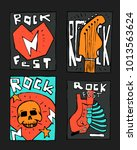 rock  blues music festival... | Shutterstock .eps vector #1013563624