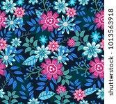 the floral pattern.under olden... | Shutterstock .eps vector #1013563918