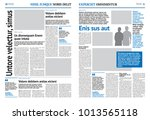 newspaper design template with... | Shutterstock .eps vector #1013565118