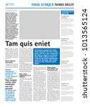 newspaper design template with... | Shutterstock .eps vector #1013565124