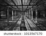 garden chair black and white | Shutterstock . vector #1013567170