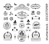 black vintage decorative badges ... | Shutterstock .eps vector #1013570989
