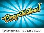 congratulation greeting card... | Shutterstock .eps vector #1013574130