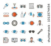 ophtalmology color icons set.... | Shutterstock .eps vector #1013574454