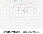 colorful falling confetti... | Shutterstock .eps vector #1013575018