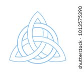 triquetra  trinity or celtic... | Shutterstock .eps vector #1013575390