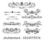 set of decorative florish...   Shutterstock .eps vector #1013575576