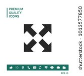 extend  resize icon. cross... | Shutterstock .eps vector #1013577850