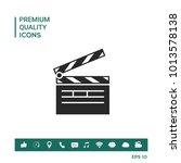 clapperboard symbol icon   Shutterstock .eps vector #1013578138