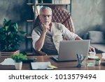 portrait of confident serious... | Shutterstock . vector #1013579494
