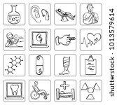 clinic medical sketch... | Shutterstock .eps vector #1013579614