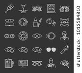 ophtalmology chalk icons set.... | Shutterstock .eps vector #1013584810