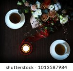 romantic background with... | Shutterstock . vector #1013587984