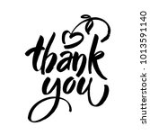 thank you text on white... | Shutterstock .eps vector #1013591140