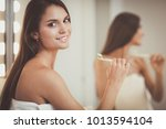 portrait of a young girl...   Shutterstock . vector #1013594104