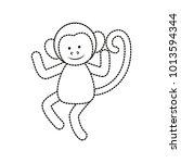 monkey vector illustration | Shutterstock .eps vector #1013594344