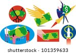 various icons related to money  ...   Shutterstock .eps vector #101359633