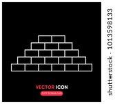 bricks vector icon illustration