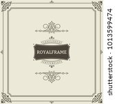 invitation frame. vintage... | Shutterstock .eps vector #1013599474