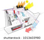 3d illustration of apartment... | Shutterstock .eps vector #1013603980