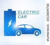 electric car and electrical...   Shutterstock .eps vector #1013604736
