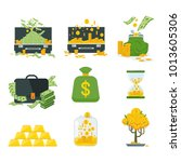 set a various kind of money.... | Shutterstock .eps vector #1013605306