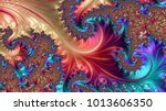 abstract computer generated... | Shutterstock . vector #1013606350