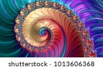 abstract computer generated... | Shutterstock . vector #1013606368