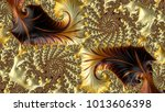 abstract computer generated... | Shutterstock . vector #1013606398