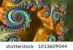 abstract computer generated... | Shutterstock . vector #1013609044