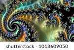 abstract computer generated... | Shutterstock . vector #1013609050
