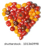 Heart shaped tomatoes - stock photo