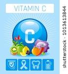 ascorbic acid vitamin c rich... | Shutterstock .eps vector #1013613844