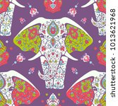 pattern with mandala and...   Shutterstock .eps vector #1013621968