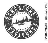 bangalore india asia stamp logo ...   Shutterstock .eps vector #1013622148